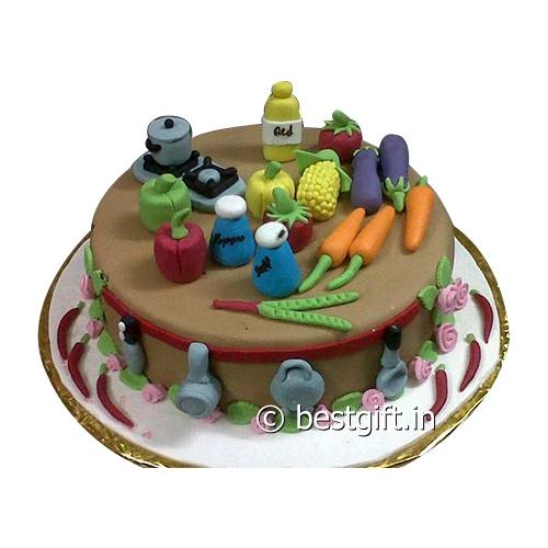 Kitchen Theme Cake Online Delivery The Mad Bakers Raipur