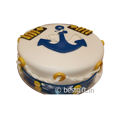Swell Naval Theme Cake Online Delivery 7Th Heaven Zirakpur Funny Birthday Cards Online Fluifree Goldxyz