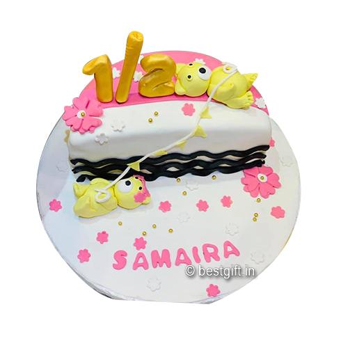 Strange Half Birthday Cake Online Delivery Baker Boy Ranchi Personalised Birthday Cards Paralily Jamesorg