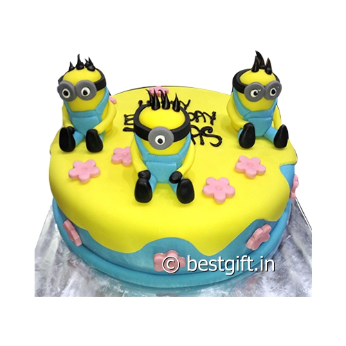 Order Minion Theme Cakefrom Blaack Forest