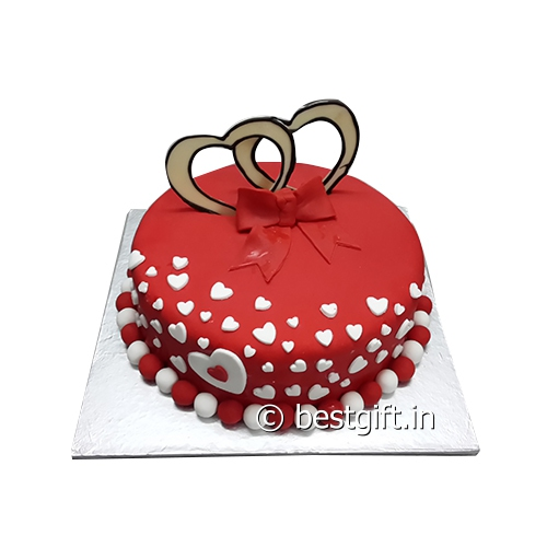 Order Red Heart Cakefrom Blaack Forest