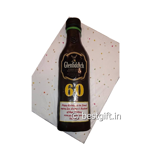 Order Alcohol Bottle Theme Cake In India