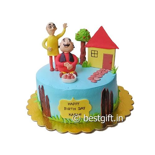 Motu Patlu Cake Online Delivery Haris Heavenly Cakes Hyderabad