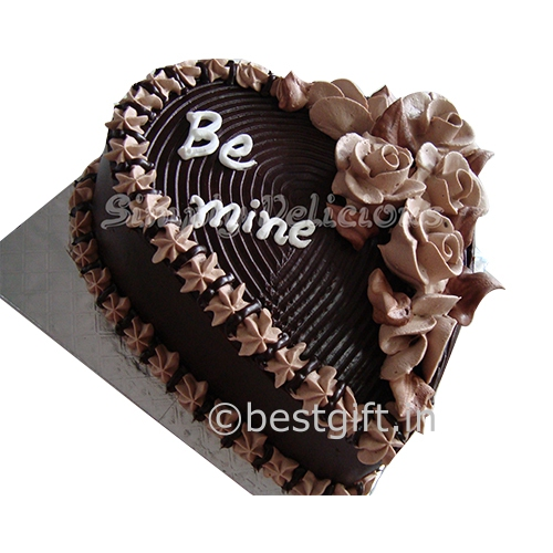 Heart Chocolate Cake Images : Gift valentine Cakes in Hyderabad - bestgift.in