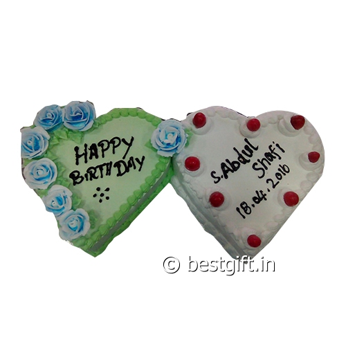Order Double Hearts Cakefrom The Cake Point