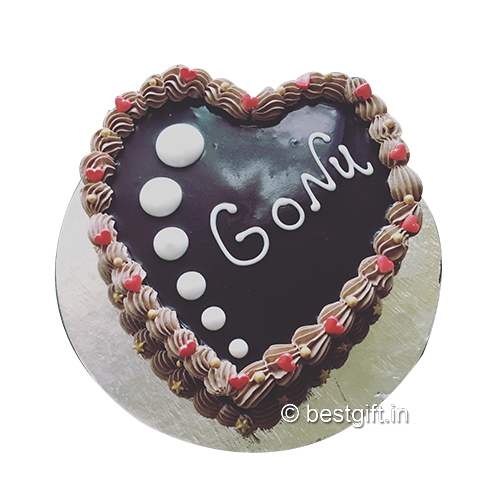 Order Chocolate Heart Cakefrom The Cake Wala