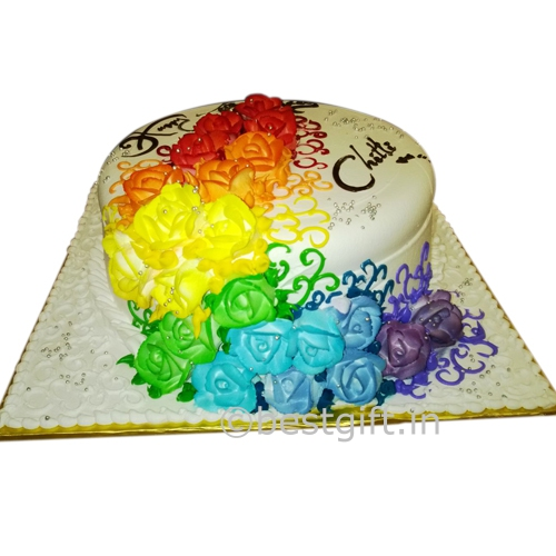 Rainbow Cake Online Delivery Vacs Pastries Hyderabad Bestgift In